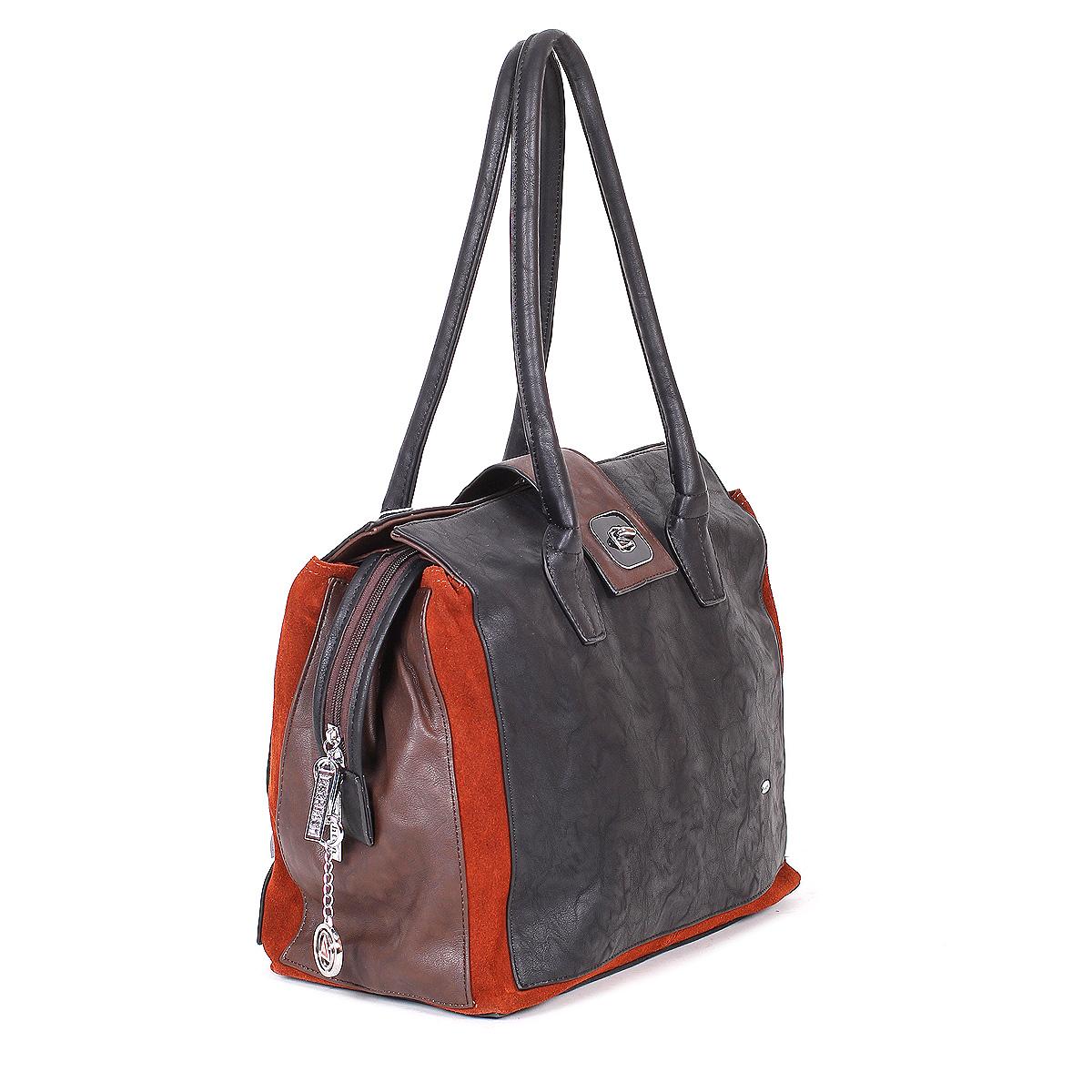 Сумка женская Leighton, цвет: черный, коричневый. 590109-6090 ( 590109-6090/6093/4 )