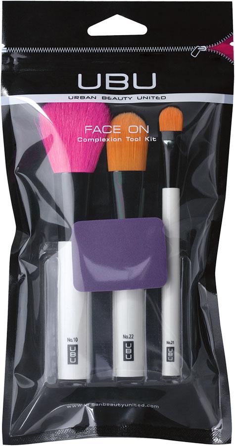UBU Набор аксессуаров для макияжа: кисти для пудры, тональной основы, консилера, спонж для тональной основы. 19-5091