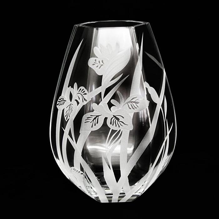 """Ваза Deco Glass """"Ирисы"""", высота 25 см"""