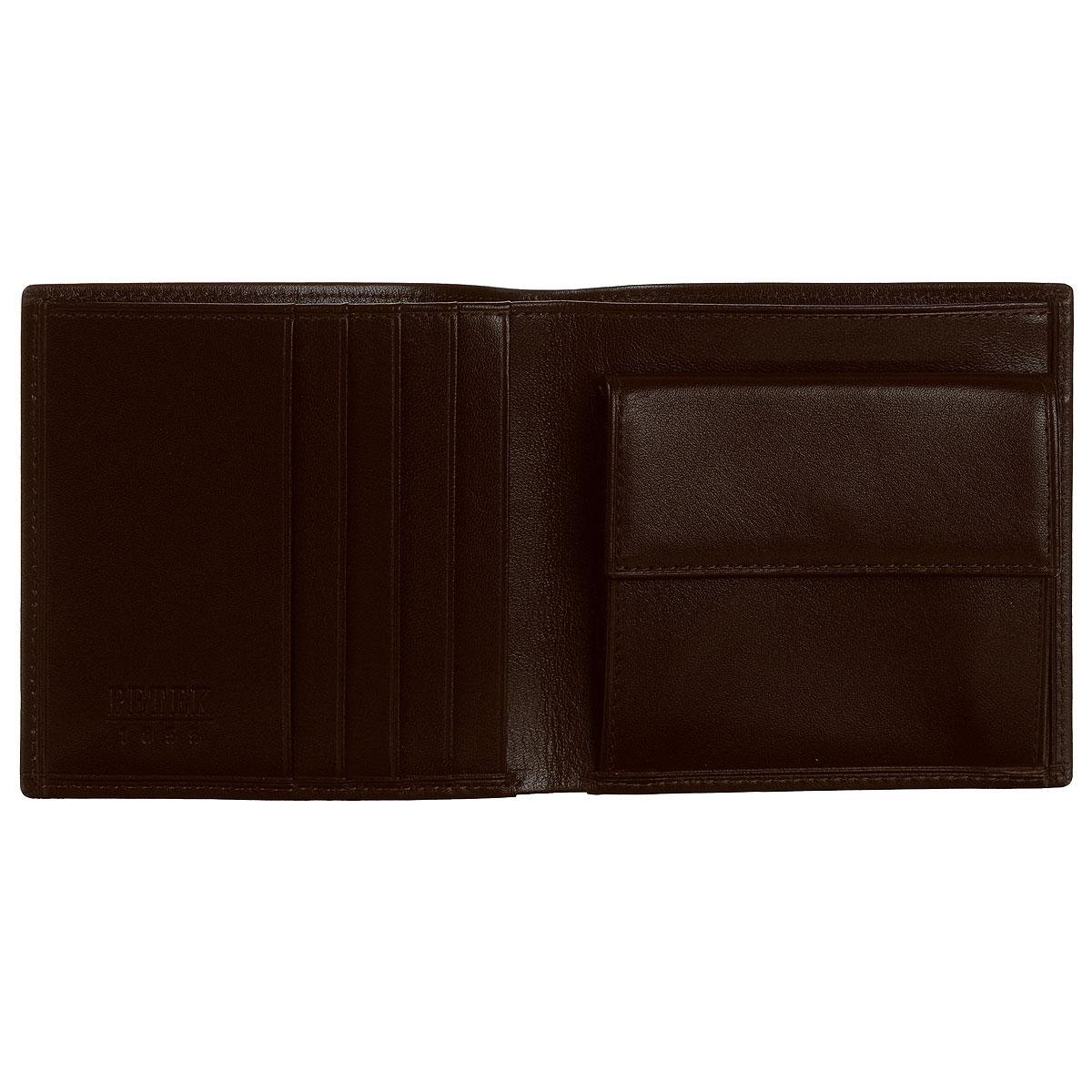 """Портмоне """"Petek"""", цвет: темно-коричневый. 121.000.222 ( 121.000.222 D.Brown )"""