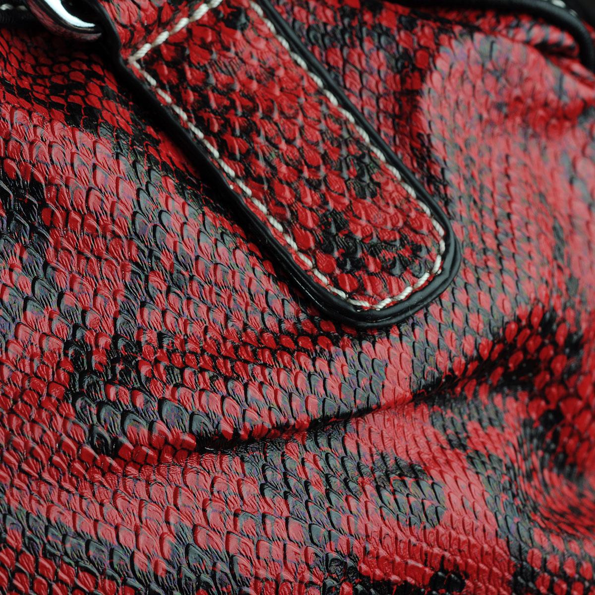 """Сумка женская """"Leighton"""", цвет: красный, черный. 53966-3810/2/3822/1 ( 53966-3810/2/3822/1 )"""