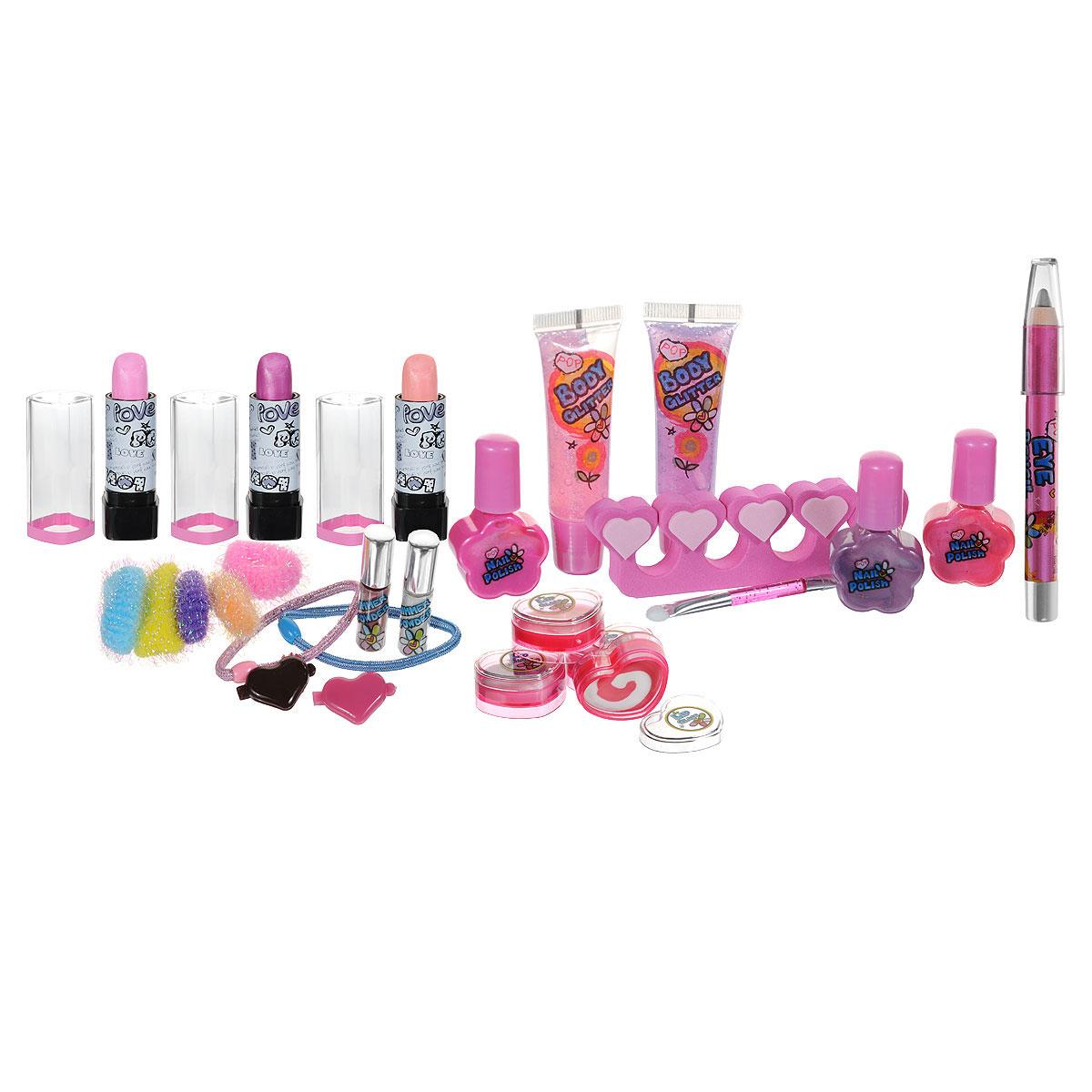 Косметический набор markwins секреты макияжа ангела цвет розовый 27 предметов