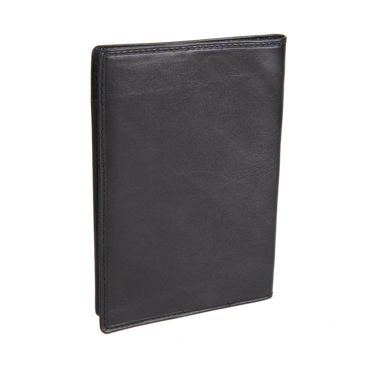 """Обложка для паспорта """"Sergio Belotti"""", цвет: черный. 2464 milano ( 2464 milano black )"""