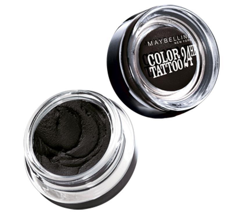 Maybelline New York Тени для век Color Tattoo 24 часа, оттенок 60, Бессменный черный, 4 мл
