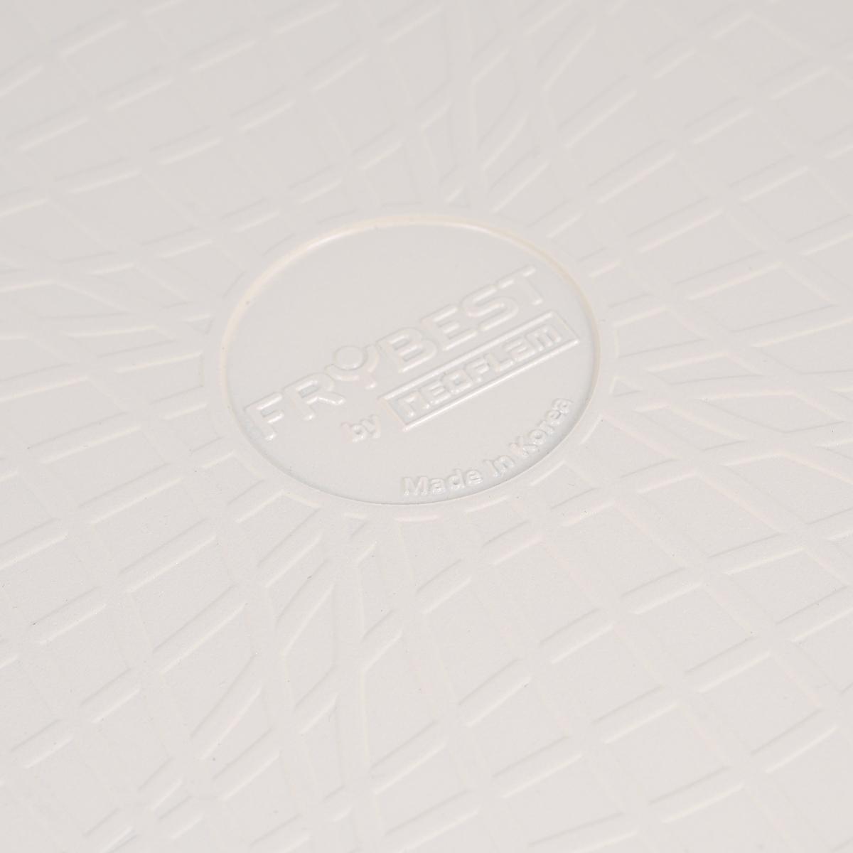 """Кастрюля Frybest """"Care"""" с крышкой, с керамическим покрытием, цвет: бежевый, 4,5 л"""