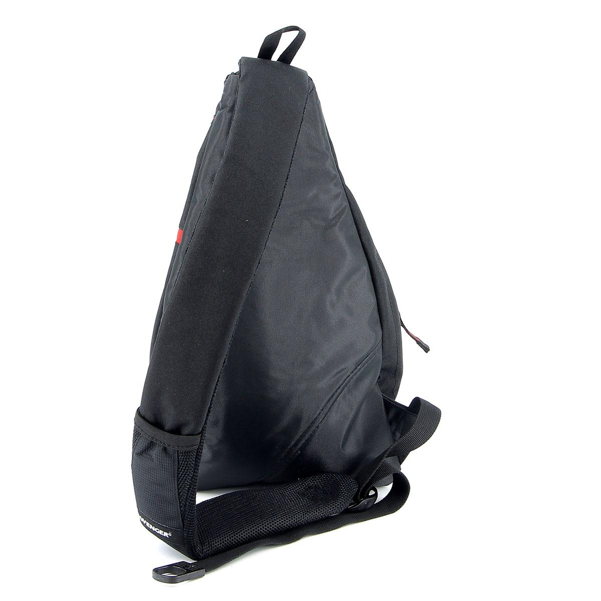 Рюкзак Wenger, с одним плечевым ремнем, цвет: черный, красный, 25 см x 15 см x 45 см, 17 л