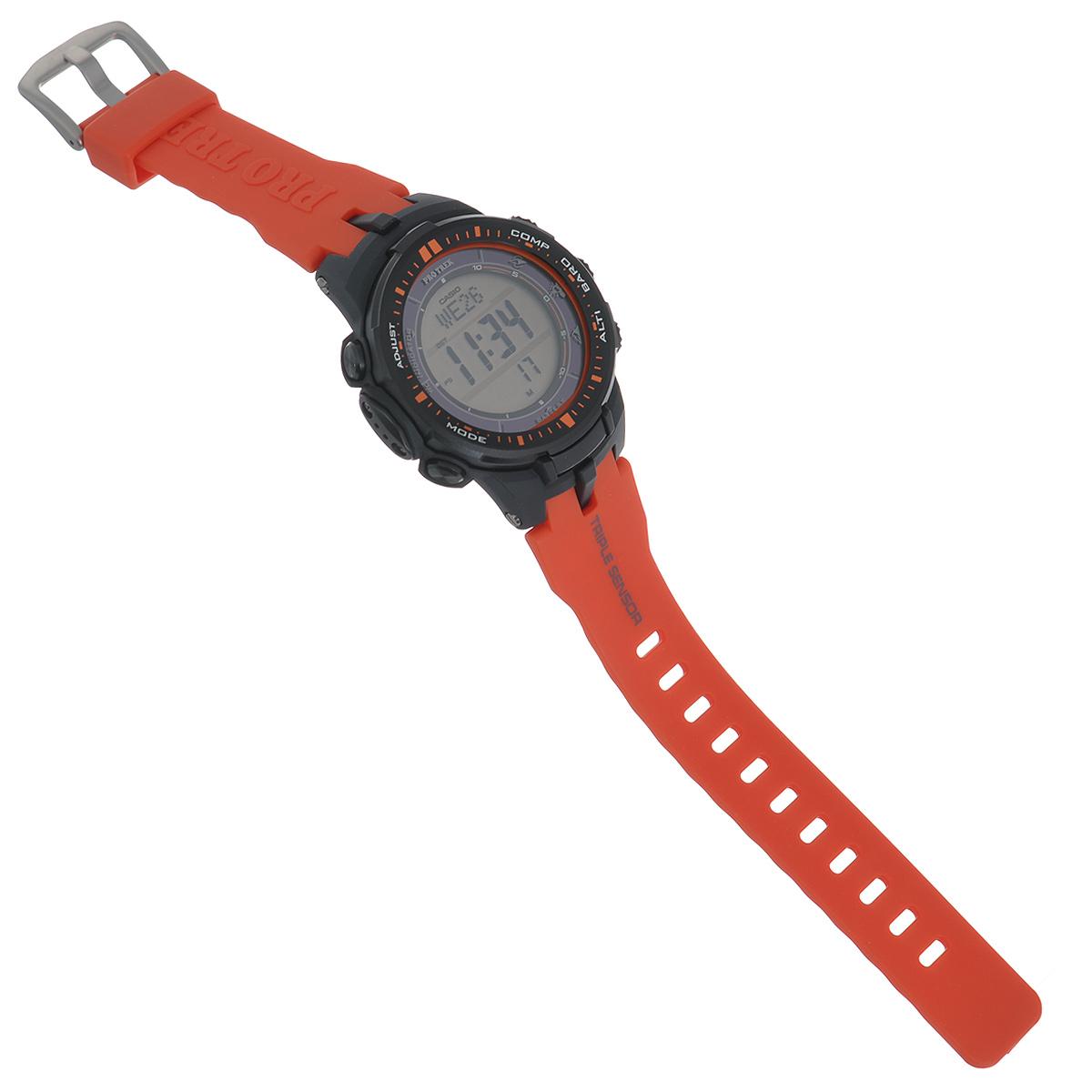 "Часы мужские наручные Casio ""Protrek"", цвет: оранжевый, темно-серый. PRW-3000-4E ( PRW-3000-4E )"