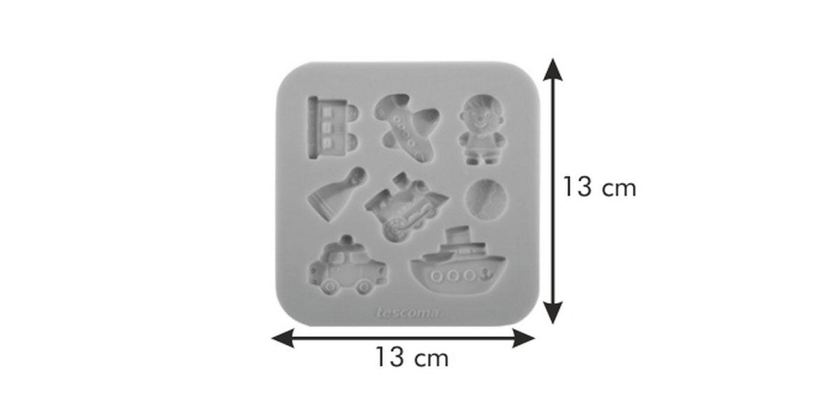 """Форма для украшения выпечки Tescoma """"Для мальчиков"""", 8 ячеек"""