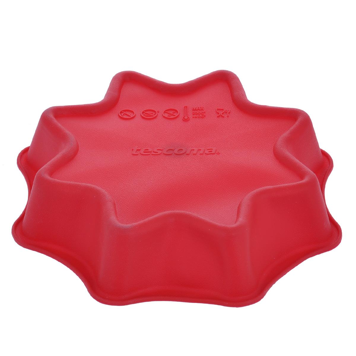 """Форма для выпечки Tescoma """"Delicia Silicone"""", цвет: красный, диаметр 28 см"""