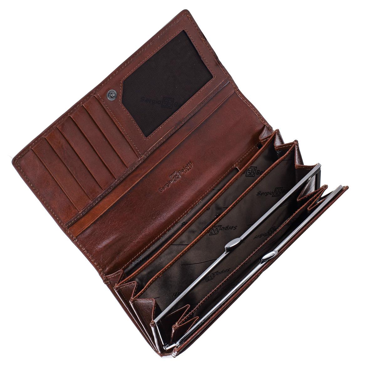 """Кошелек женский """"Sergio Belotti"""", цвет: коричневый. 1164 ( 1164 milano brown )"""