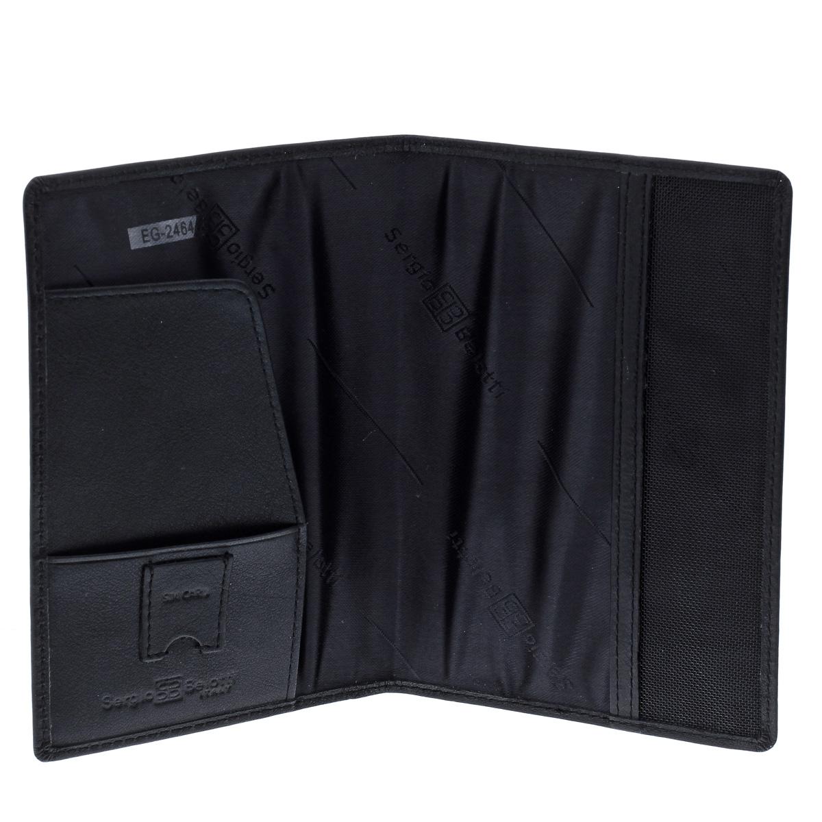 """Обложка для паспорта """"Sergio Belotti"""", цвет: черный. 2464 west ( 2464 west )"""