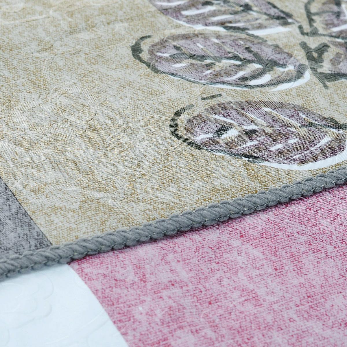 """Скатерть White Fox """"Лист"""", овальная, цвет: сиреневый, серый, 152 x 228 см"""