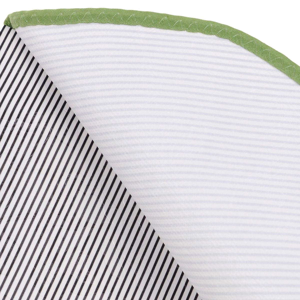 """Скатерть White Fox """"Лето"""", овальная, цвет: зеленый, белый, 152 x 228 см"""