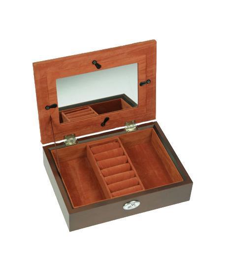 "Шкатулка ювелирная ""Moretto"", цвет: коричневый, 19 х 14 х 5 см 39843"