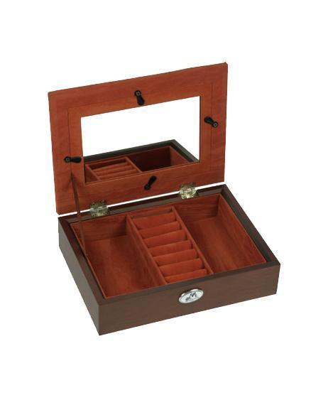"Шкатулка ювелирная ""Moretto"", цвет: коричневый, 19 х 14 х 5 см 39841"