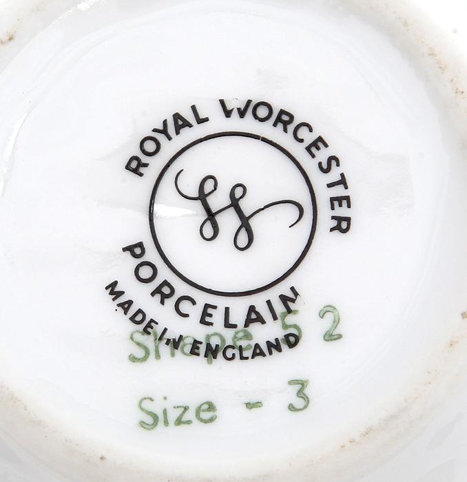 Тарелочка для украшений. Фарфор, золочение. Royal Worcester. Великобритания, вторая половина ХХ века