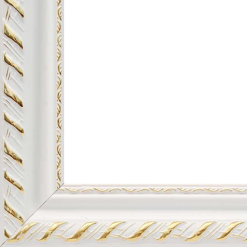"Багетная рама ""Constance"", цвет: белый, золотистый, 40 х 50 см"