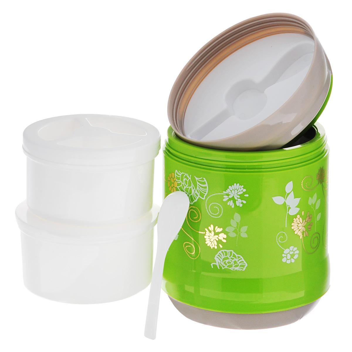 """Термос пищевой """"Mayer & Boch"""", цвет: зеленый, серый, 1,2 л"""