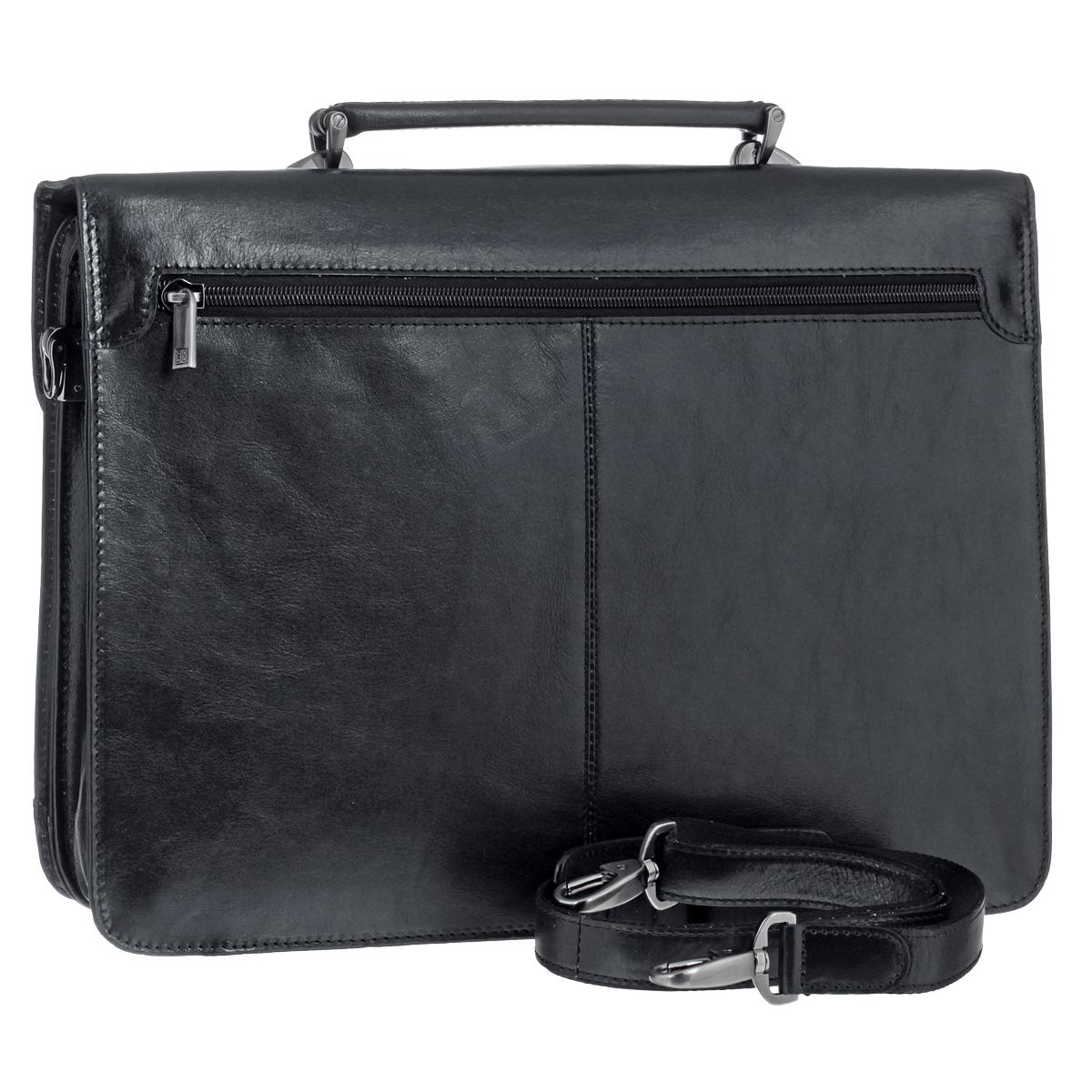 """Портфель мужской """"Sergio Belotti"""", цвет: черный. 8092 ( 8092 milano black )"""