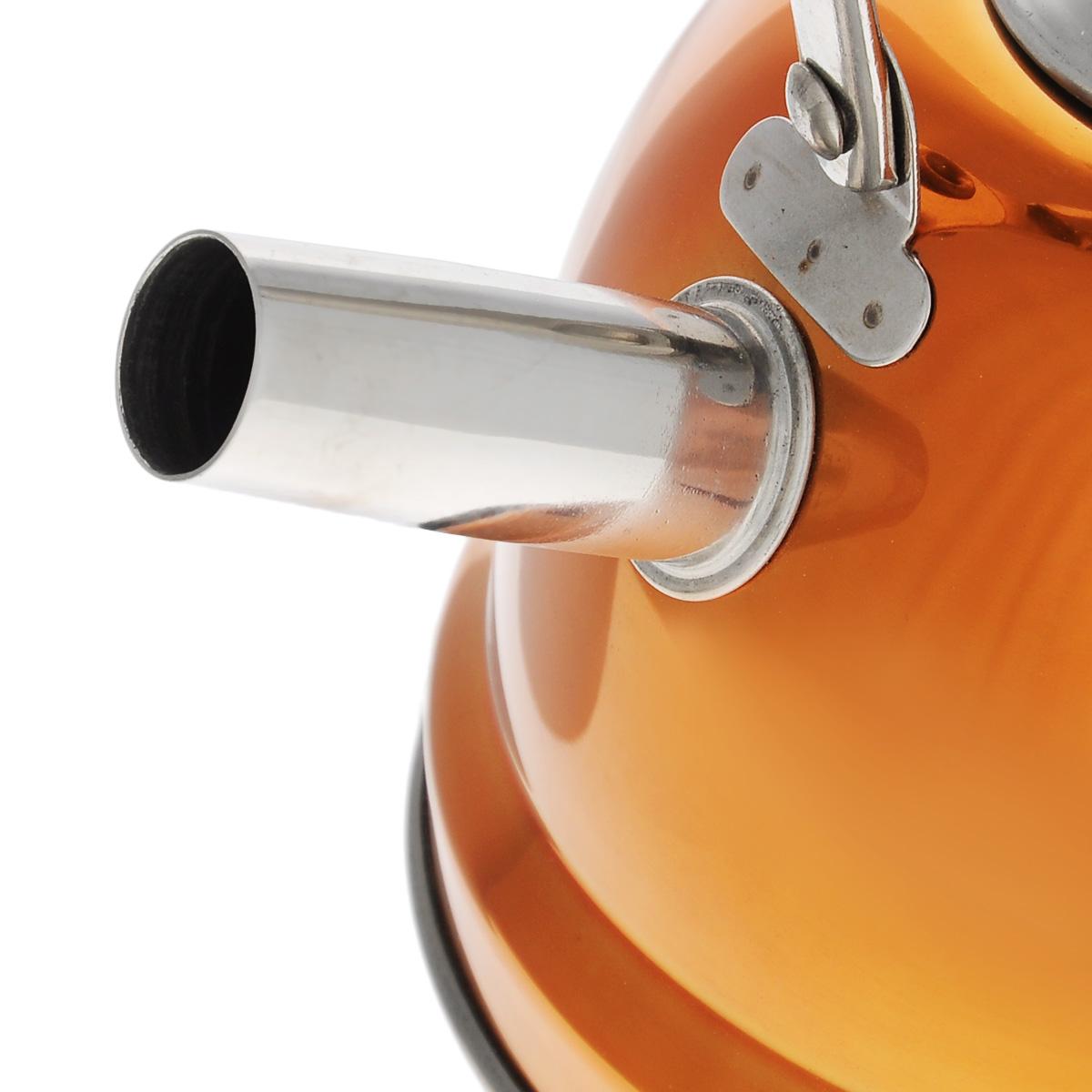 """Чайник Bekker """"De Luxe"""", с ситечком, цвет: оранжевый 0,8 л. BK-S430"""