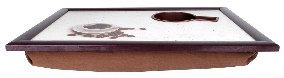 """Столик-поднос для завтрака Едим дома """"Чашка кофе"""", с мягким основанием, 44 х 34 х 8 см ( 60560 )"""