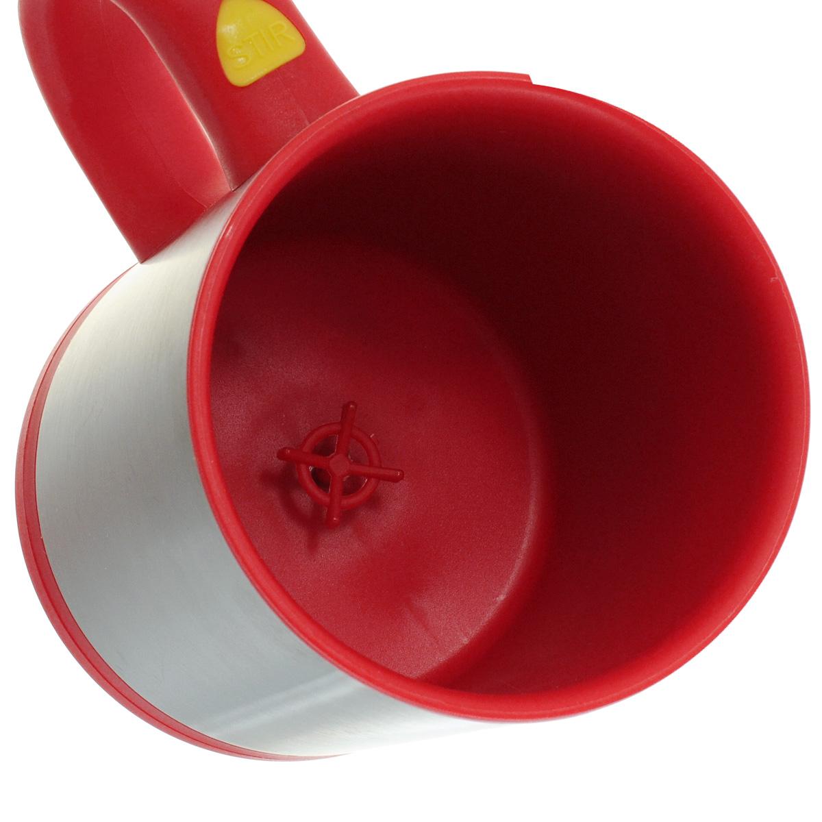 """Термокружка Эврика """"Магическая мешалка"""", с крышкой, цвет: красный, 375 мл"""