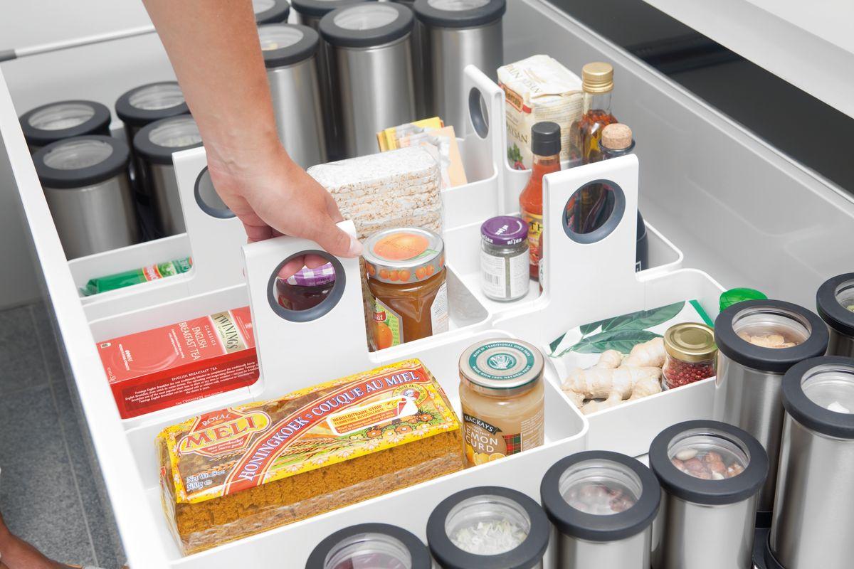 "Кухонная подставка-органайзер ""Brabantia"", цвет: белый, 34,5 х 34,5 см"