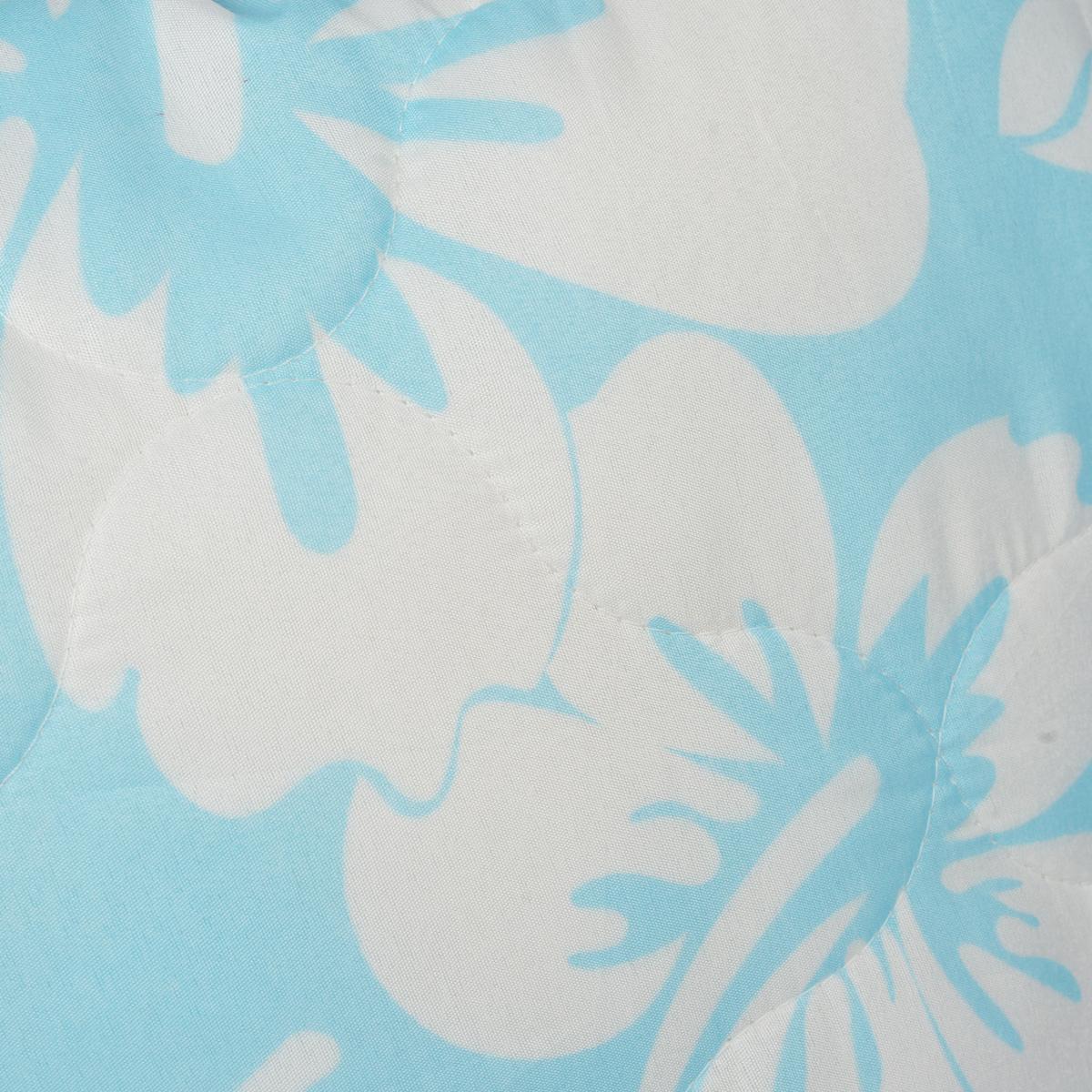 """Подушка Dargez """"Бомбей"""", наполнитель: бамбуковое волокно, цвет: голубой, 68 см х 68 см"""