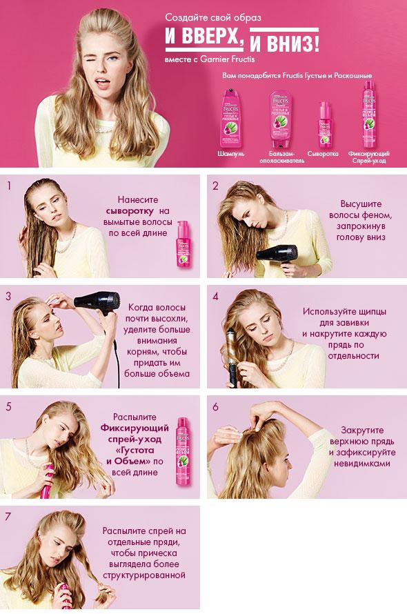 Garnier Шампунь для волос Fructis. Густые и роскошные, укрепляющий, для тонких волос, лишенных густоты, 250 мл