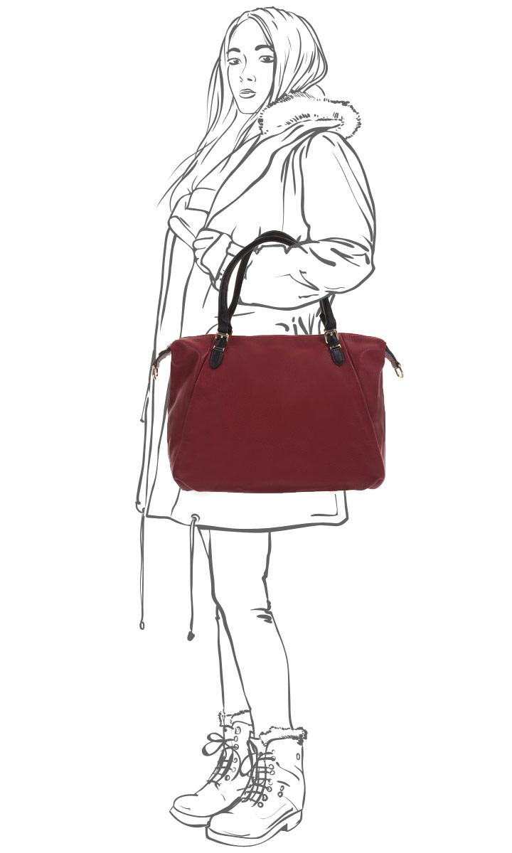 Сумка женская Fancy\'s Bag, цвет: красный. 2858-12 ( 2858-12 красный )