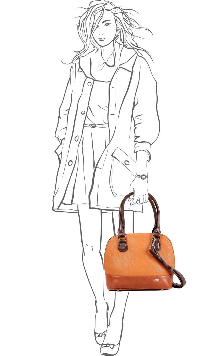 """Сумка женская """"Leighton"""", цвет: светло-коричневый. 62154-1588/13/1598/10/1589/3 ( 62154-1588/13/1598/10/159 )"""