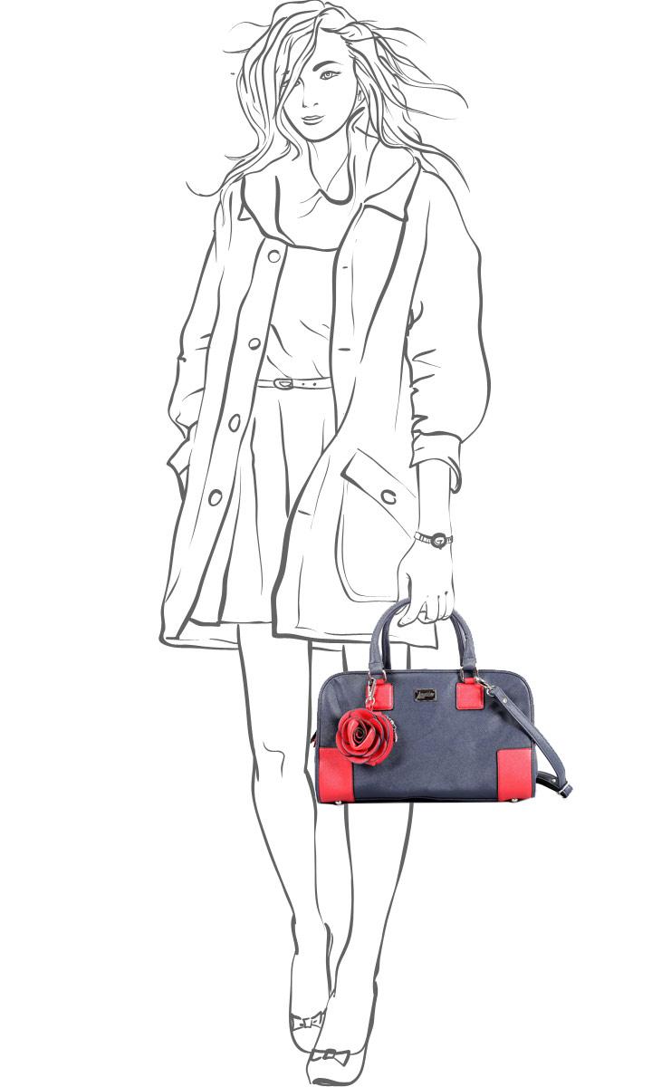 Сумка женская Leighton, цвет: синий, красный. 520268-3769/4/3769/16 ( 520268-3769/4/3769/16 син )