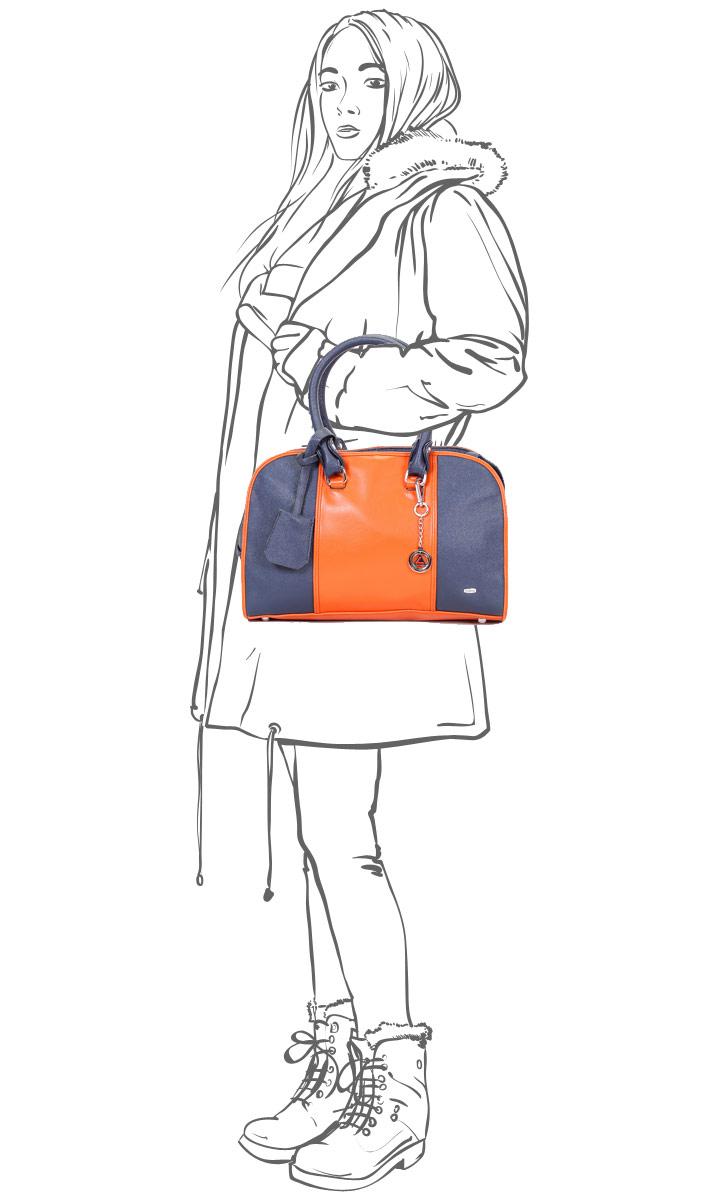 Сумка женская Leighton, цвет: синий, оранжевый. 570353-3769/4/1166/813 ( 570353-3769/4/1166/813 )