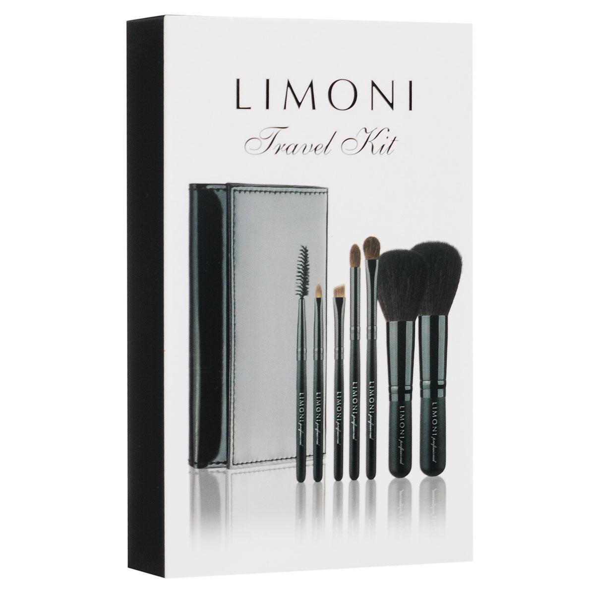 Набор кистей Limoni Travel Kit, дорожный, 7 предметов