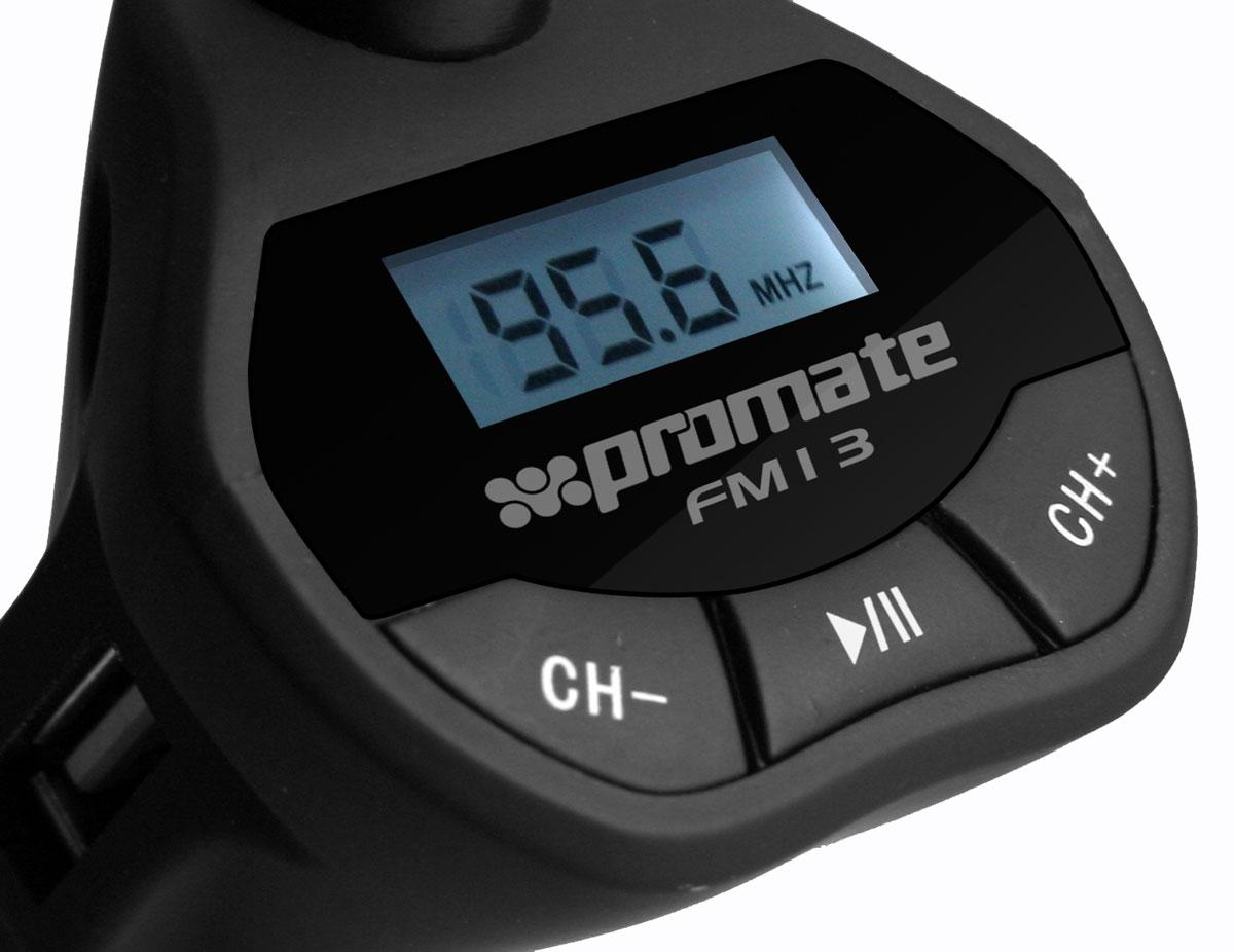 """FM-трансмиттер многофункциональный Promate """"FM13"""" ( 00007652 )"""
