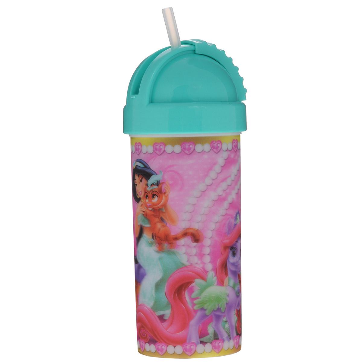 """Фляга Disney """"Принцессы. Королевские питомцы"""", цвет: зеленый, 400 мл"""