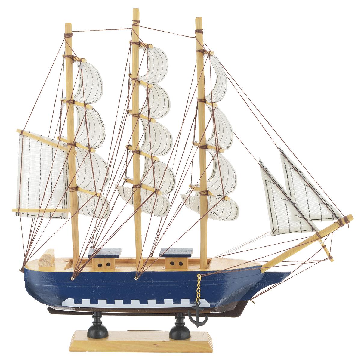 """Корабль сувенирный """"Семь футов под килем"""", длина 31см. 417199"""