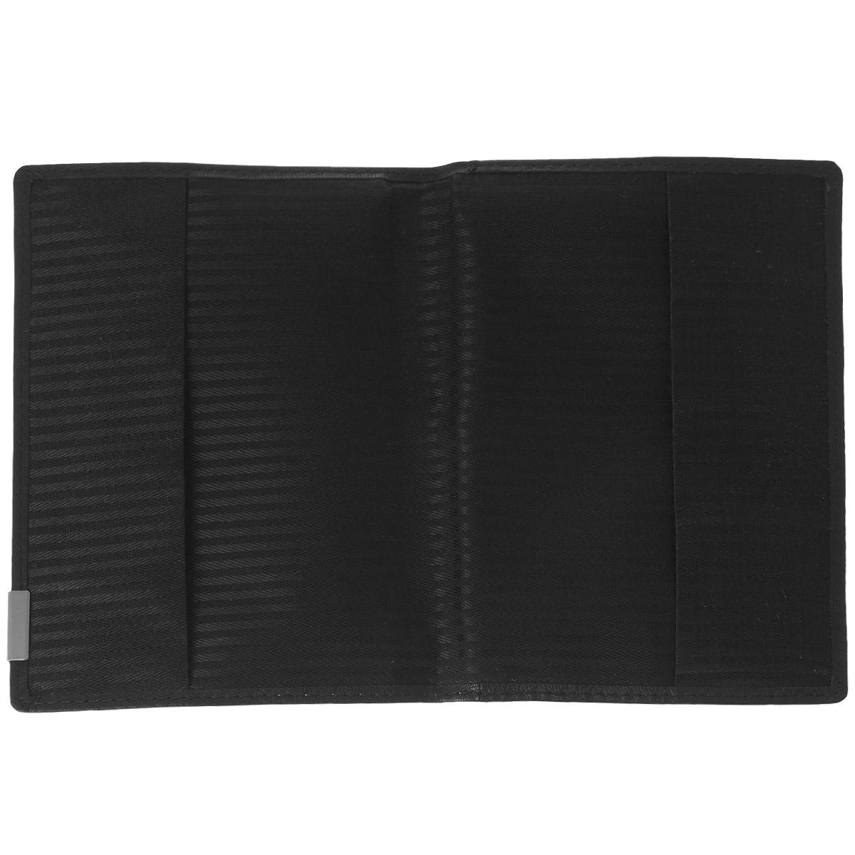 """Обложка для паспорта """"Bodenschatz"""", цвет: черный. 8-724/01 ( 8-724/01 )"""
