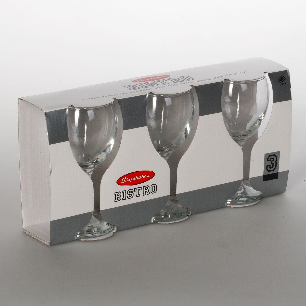 "Набор бокалов для белого вина Pasabahce ""Bistro"", 175 мл, 3 шт"