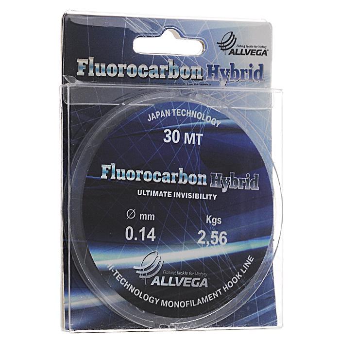 "Леска Allvega ""Fluorocarbon Hybrid"", цвет: прозрачный, 30 м, 0,14 мм, 2,56 кг"