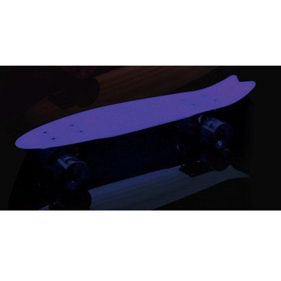 """Пластборд """"Fish"""", светящийся в темноте, цвет: сиреневый, фиолетовый, дека 56 х 15 см"""