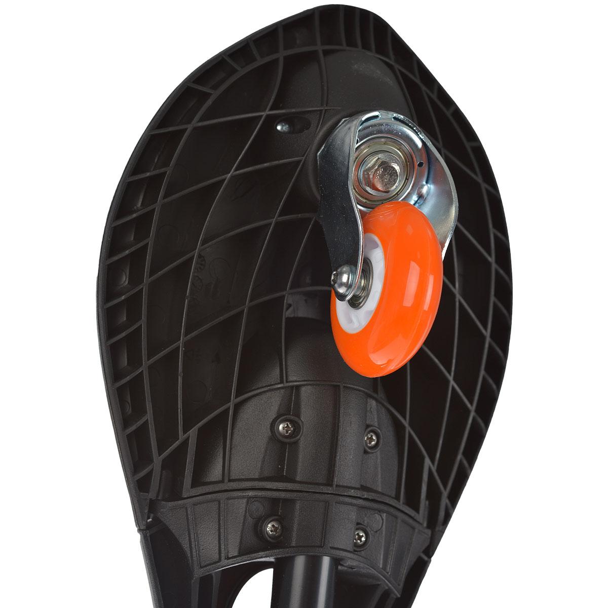 """Скейтборд двухколесный JDBug """"Power Surf"""", цвет: черный, оранжевый, 76,5 см"""