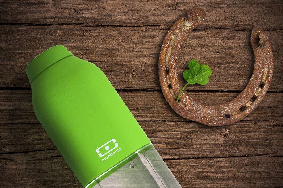 """Бутылка для воды Monbento """"Positive"""", цвет: зеленый, 500 мл"""