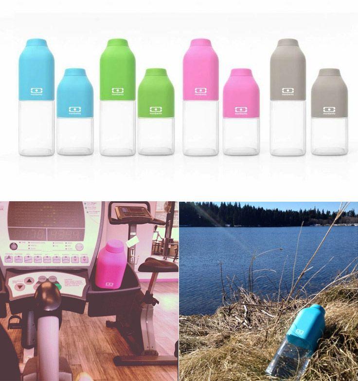 """Бутылка для воды Monbento """"Positive"""", цвет: голубой, 330 мл"""