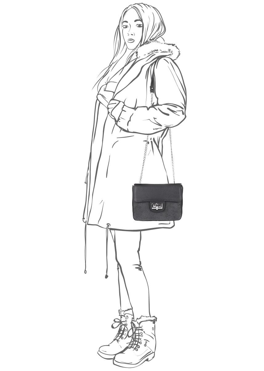 Сумка женская Afina, цвет: графитовый. 103 ( 103 )