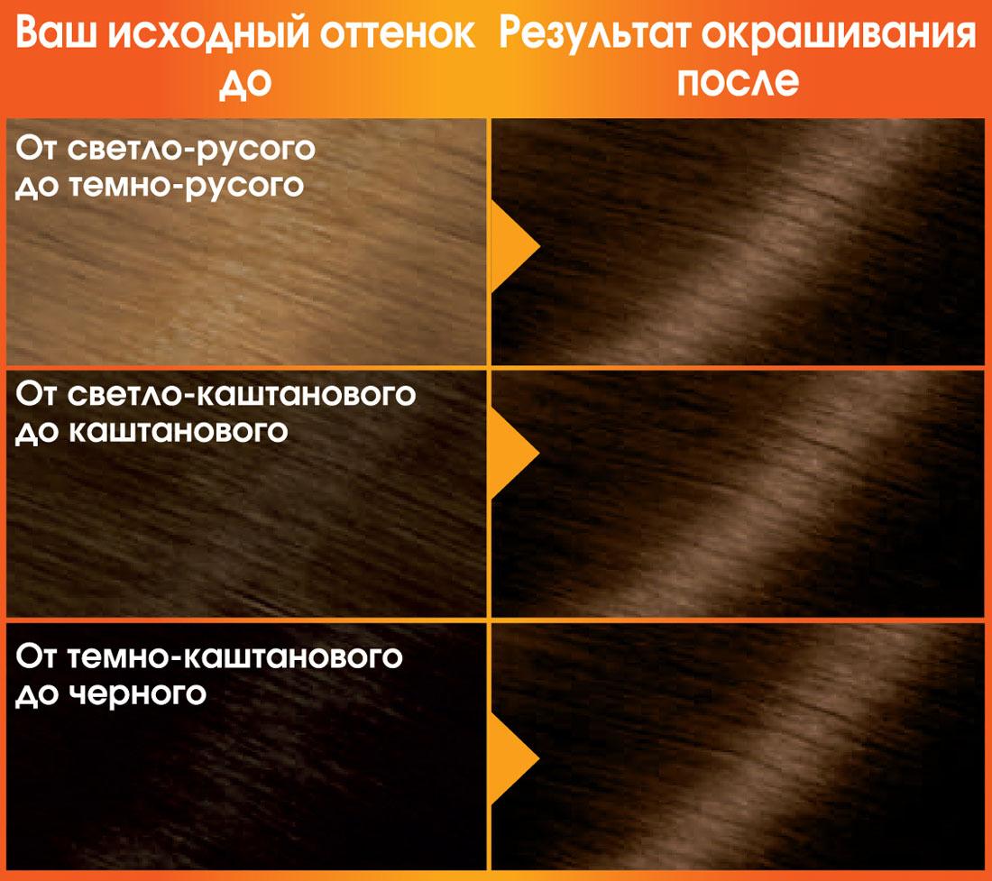Garnier Стойкая питательная крем-краска для волос Color Naturals, оттенок 4.3, Золотистый каштан, 110 мл