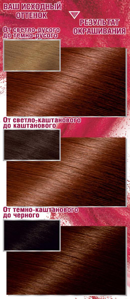 Garnier Стойкая крем-краска для волос Color Sensation, Роскошь цвета, оттенок 6.35, Золотой янтарь, 110 мл