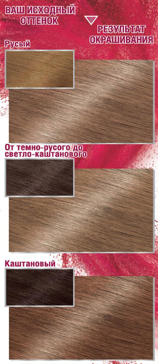 Garnier Стойкая крем-краска для волос Color Sensation, Роскошь цвета, оттенок 7.0, Изысканный золотистый топаз, 110 мл
