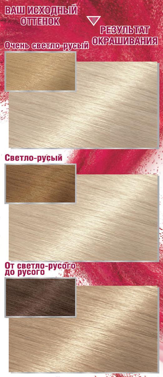 Garnier Стойкая крем-краска для волос Color Sensation, Роскошь цвета, оттенок 111, Ультра блонд платиновый, 110 мл
