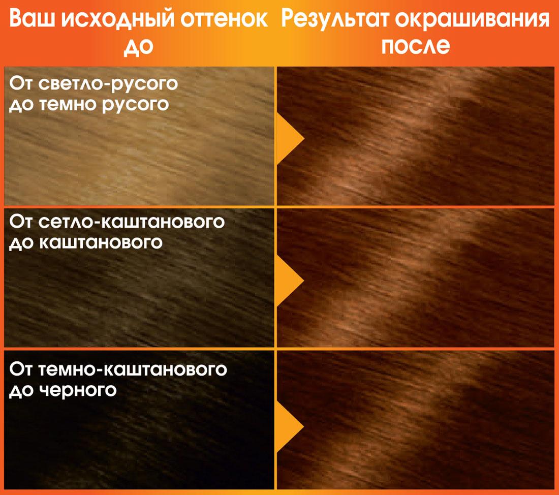 Garnier Стойкая питательная крем-краска для волос Color Naturals, оттенок 6.41, Страстный янтарь, 110 мл